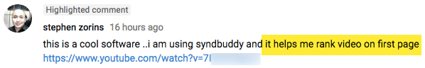 SyndBuddy 2.0 Testimonial