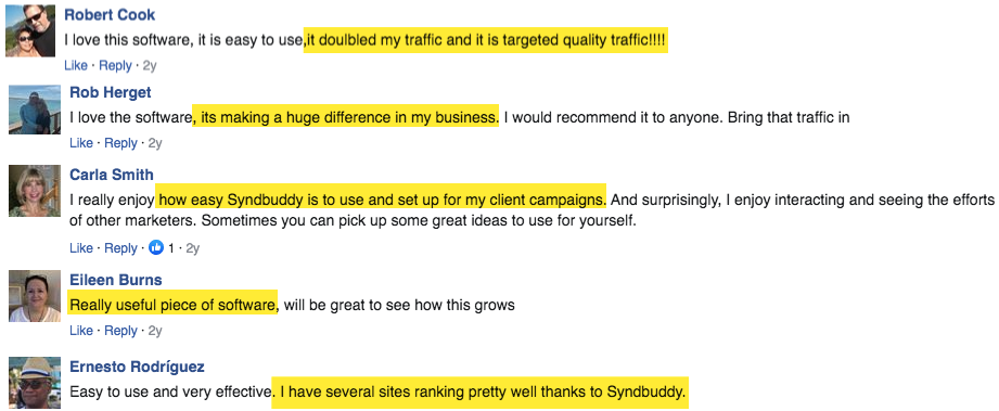 SyndBuddy 2.0 Testimonials